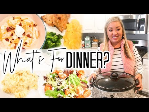 WHAT'S FOR DINNER | EASY WEEKNIGHT MEALS | CROCKPOT DINNERS| JESSICA O'DONOHUE