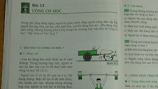 [ Vật Lí 8 ] Bài 13  Công Cơ Học (SGK)