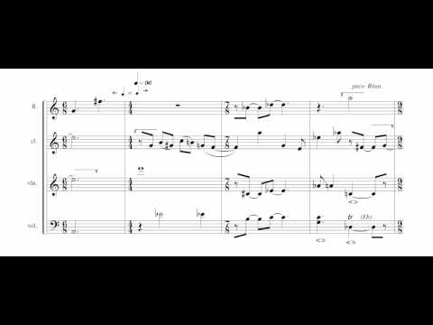 Double Duo (1987/2006) for flute, clarinet, violin and cello by Edward Smaldone