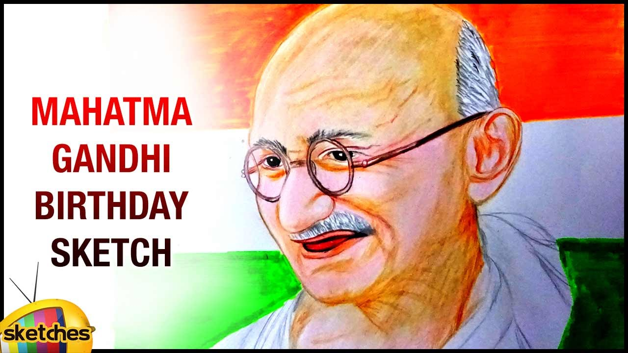Sketch of mahatma gandhi gandhi jayanti special mango sketches youtube