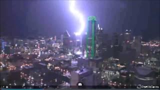 Dallas , Texas Lightning Strike -- May 26 2015
