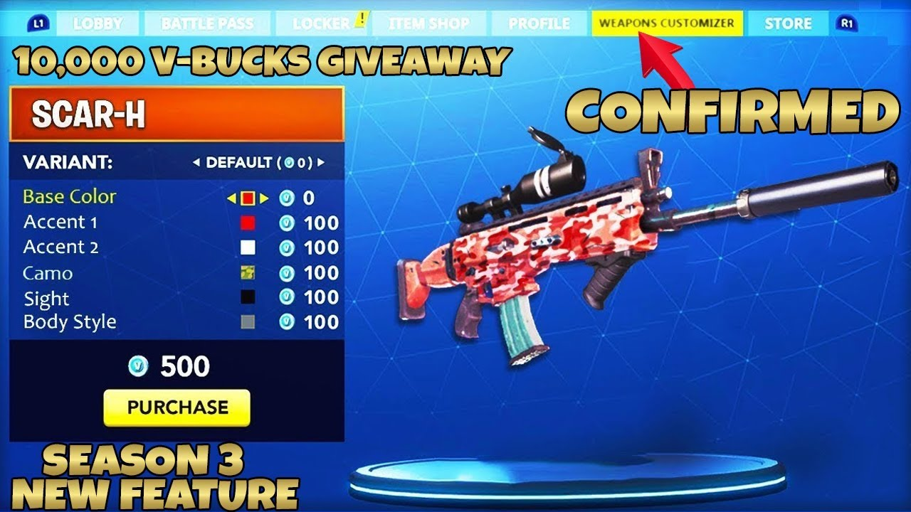 How To Customize Your Weapon In Fortnite Season 3 New Features