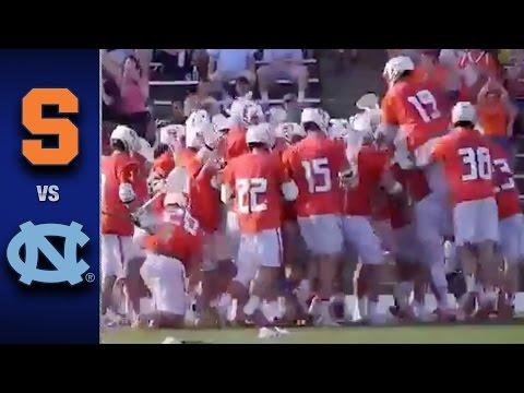 North Carolina vs. Syracuse Men's Lacrosse Highlights (2017)