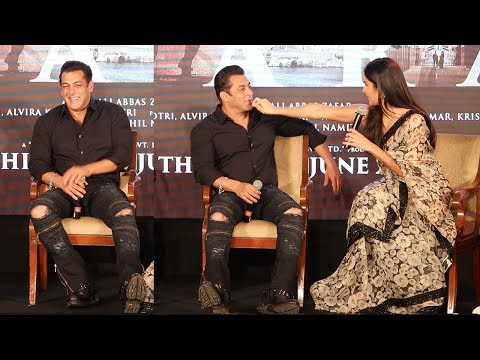 Watch How Salman Khan Gets EMBARASSED & Shy When Katrina Kaif Touches Him In Public