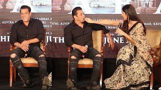 Watch How Salman Khan gets EMBARASSED & Shy when Katrina Kaif Touches Him In Public