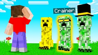 GUESS Which CREEPER Is The REAL CRAINER! (Minecraft)