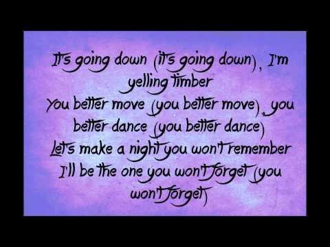 Pitbull - Timber ft Kesha Lyrics