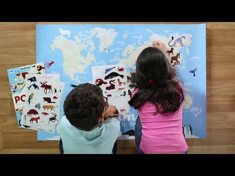 Poppik : les animaux du monde en stickers