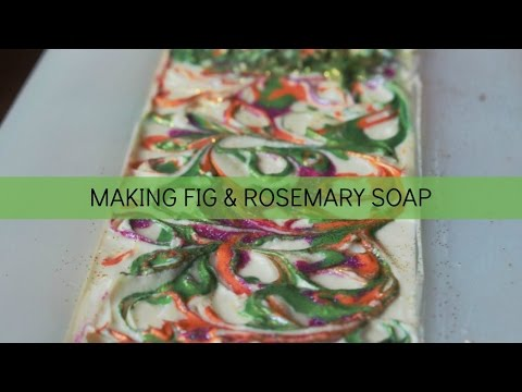 f331c20958c1d Making Fig & Rosemary Cold Process Soap | Love Is Sweet Shop - YouTube
