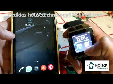 Cómo vincular el smartwatch DZ09 al celular (Mediatek