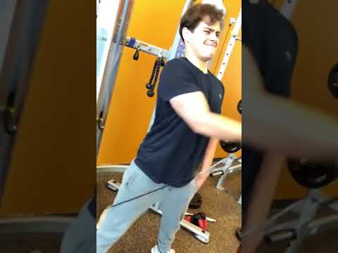 Jake T. Austin Working Out April 10th, 2018
