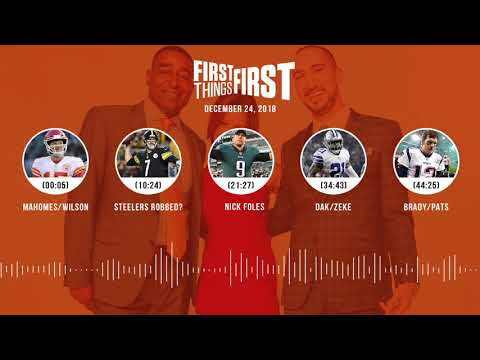 First Things First audio podcast(12.24.18)Cris Carter, Nick Wright, Jenna Wolfe | FIRST THINGS FIRST