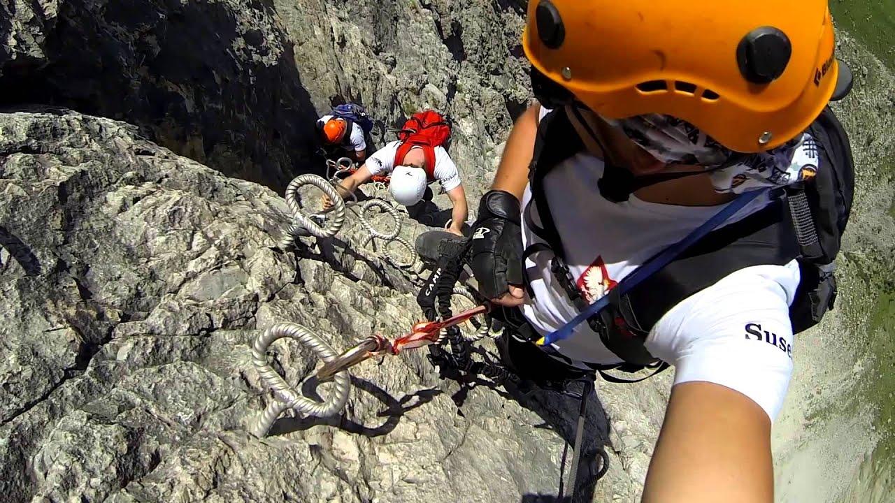 Klettersteig Piz Mitgel : Via ferrata piz mitgel schweiz youtube