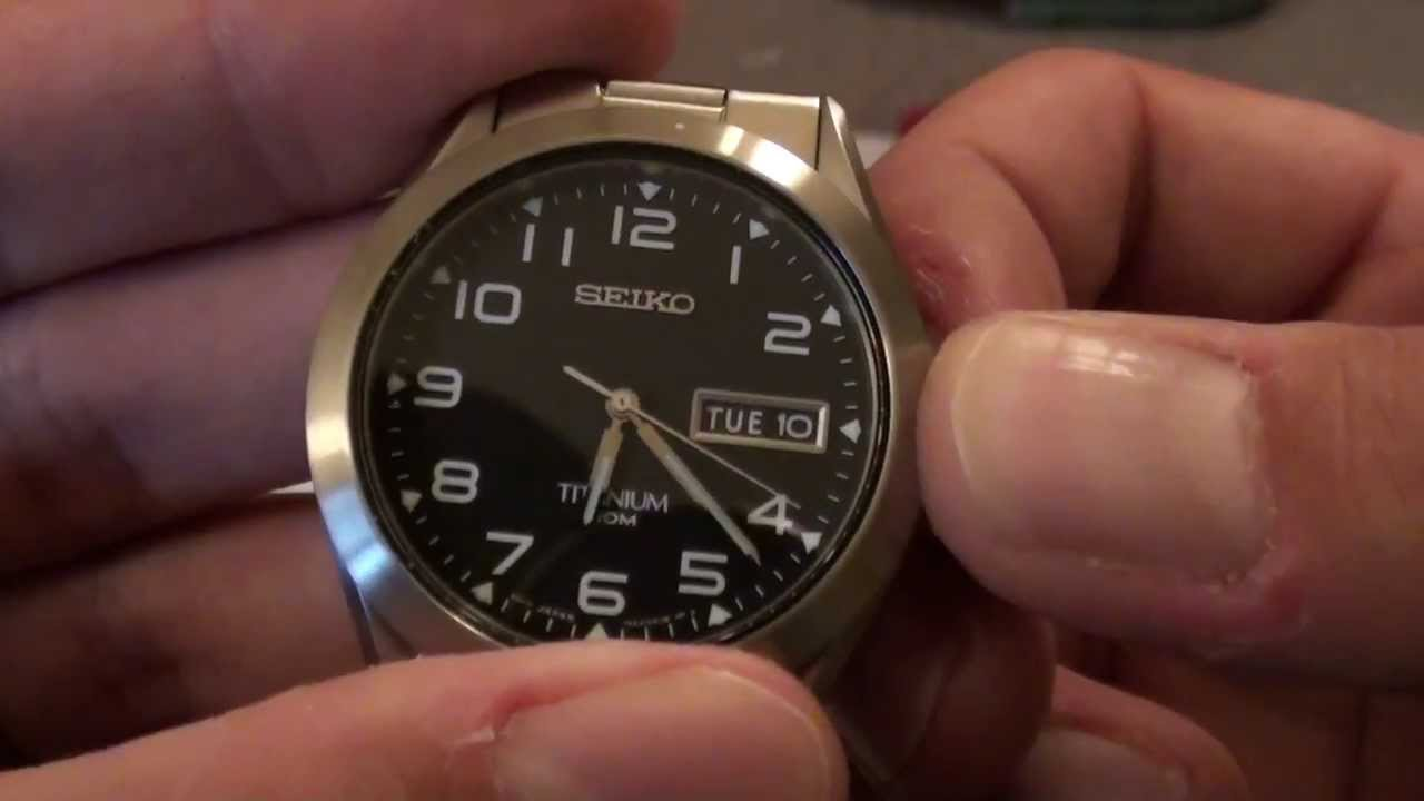unboxing seiko sgg711 titanium watch and some other stuff