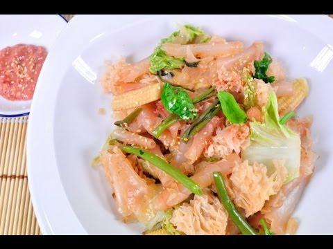 สุกี้เซียงไฮ้ผัดแห้งเจ (อาหารเจ)