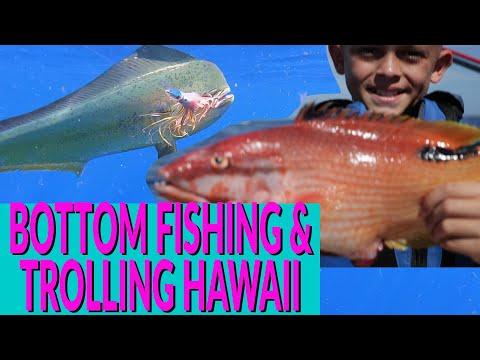 DEEP DROP Bottom Fishing Off Oahu Hawaii And TROLLING For Mahimahi