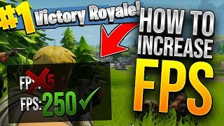 HOW TO GET BETTER FPS IN FORTNITE BATTLE ROYALE! (Best FPS Settings)