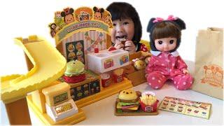 ハンバーガー屋さんごっこ ディズニーツムツム Pretend Play as a Hamburger Shop Toy