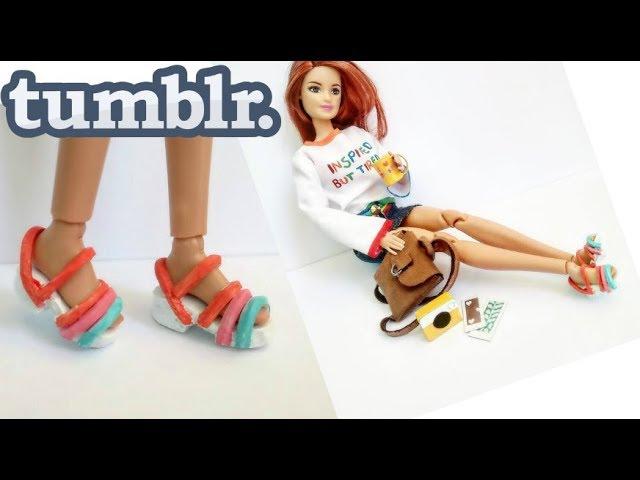 Roupa Tumblr para Barbie | DIY | Roupa fácil para boneca