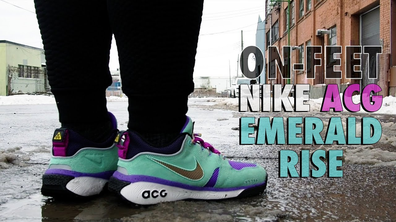 barril Terminología administración  An on-feet look of Nike's ACG Dog Mountain in Emerald Rise - YouTube
