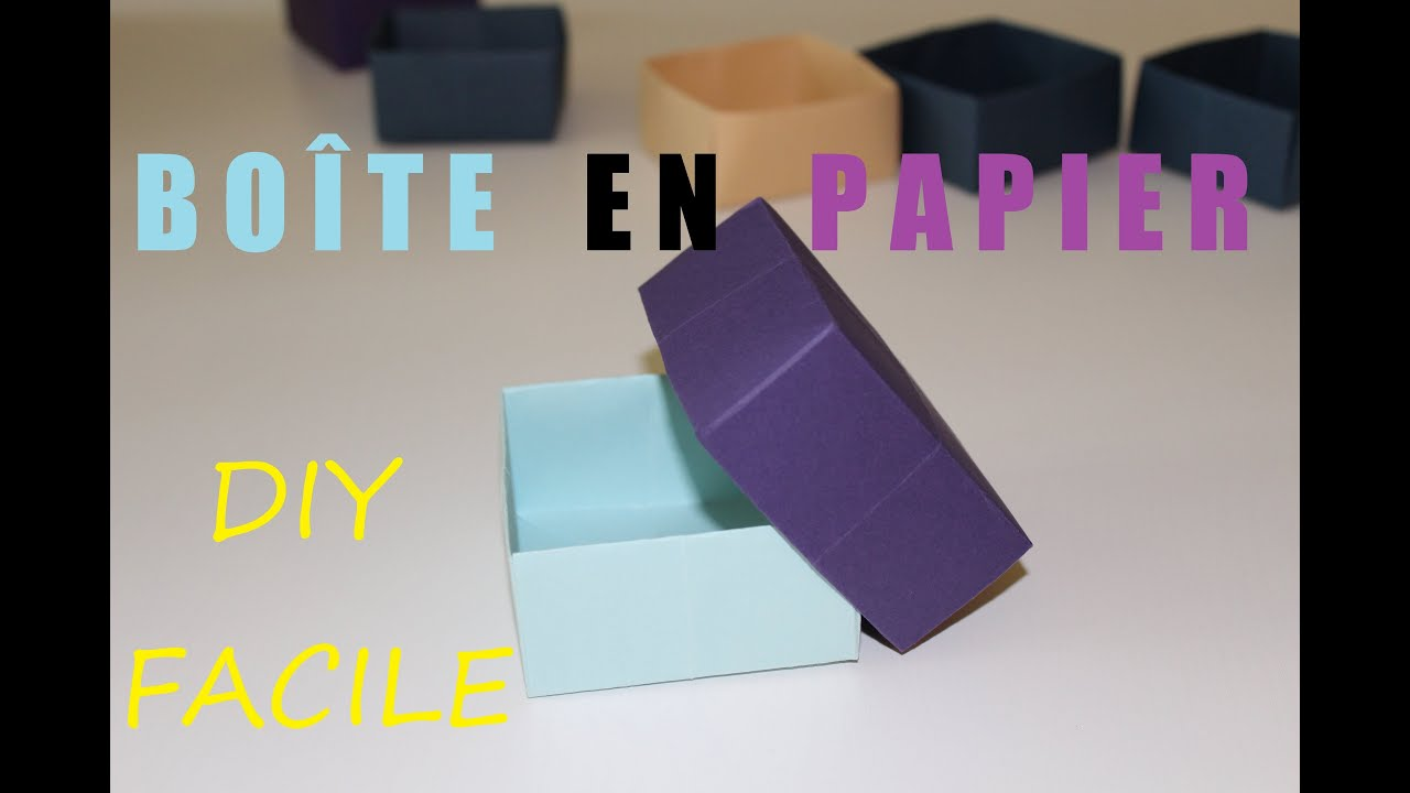 comment faire une bo te en papier diy origami facile youtube. Black Bedroom Furniture Sets. Home Design Ideas