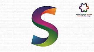 Adobe illustrator - Create Letter Logo Design Look 3D - Text Effect Logo Design Tutorial