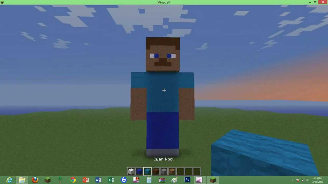how to build a minecraft steve statue  YouTube