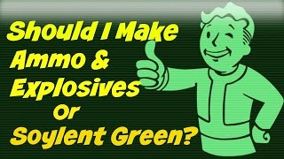 Should I make Ammo & Explosives or Soylent Green?? | Fallout 4 Contraptions Workshop DLC |