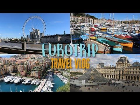 Europe Travel Vlog | London, Paris, Nice, Monaco, Brussels and Amsterdam