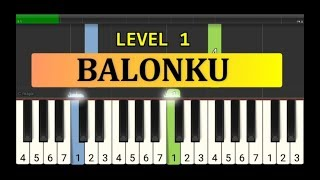 not piano balonku - tutorial piano tingkat 1 - lagu anak anak ciptaan at mahmud