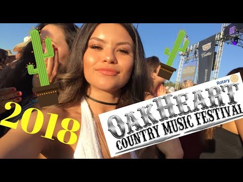 Oakheart Country Festival Vlog; FOLLOW ME AROUND