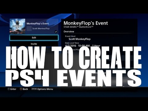How To Create PS4 Events Tutorial PlayStation 4 New system Software Update 3.50