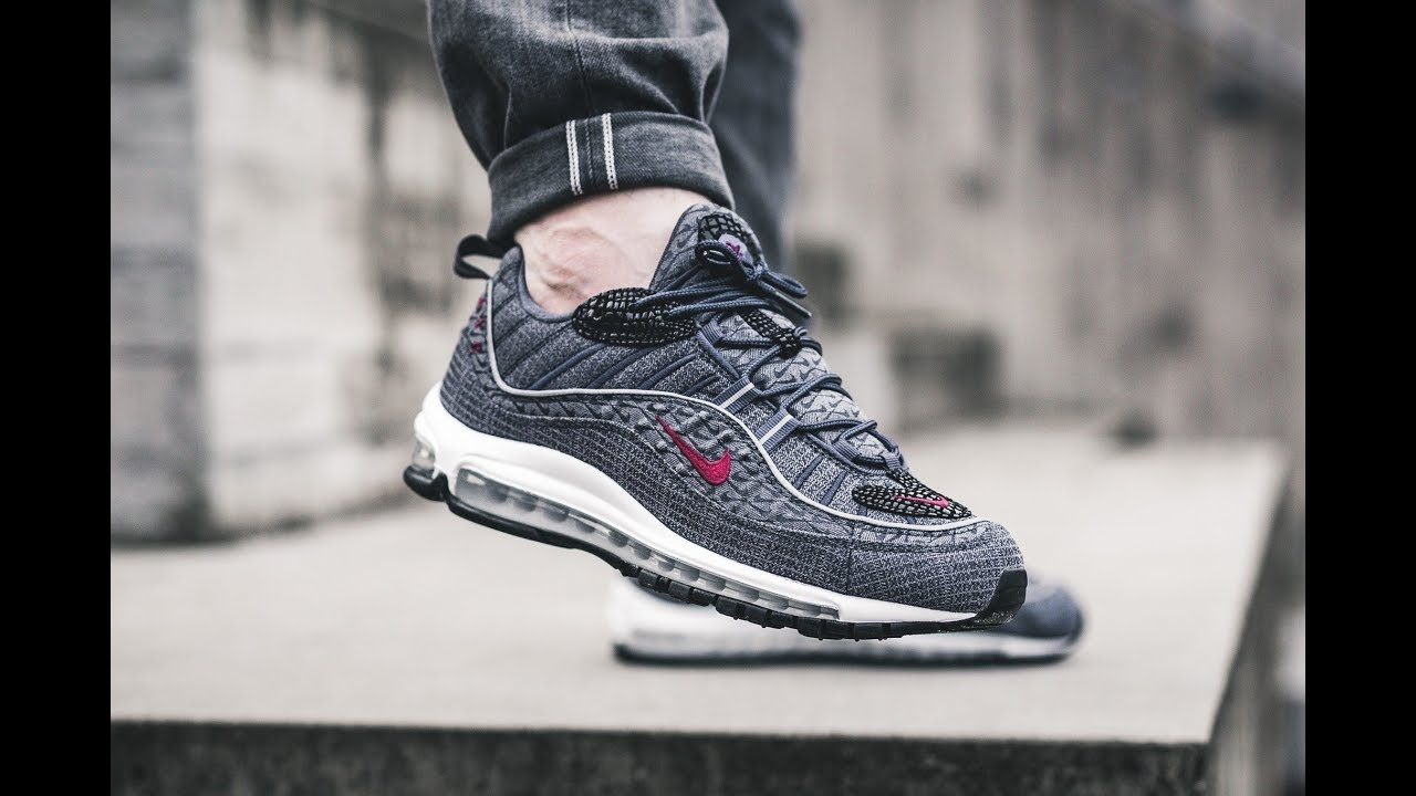 info for 191f0 9a61b Nike Air Max 98 Thunder Blue 924462-400   On-Foot Look   SoleInfo