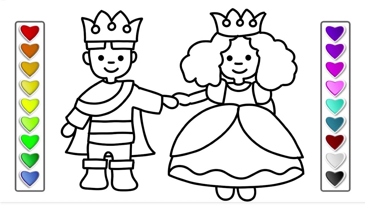 How To Draw A King And Queen l Drawing and Coloring Pages ...