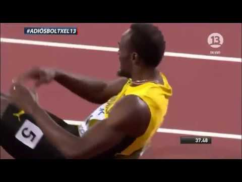ÚLTIMA CARRERA LEYENDA USAIN BOLT || LESIÓN BOLT || 4X100 || Usain Bolt injury in last Career