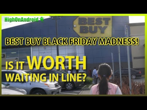 Best Buy Black Friday MADNESS! IS IT WORTH WAITING IN LINE?