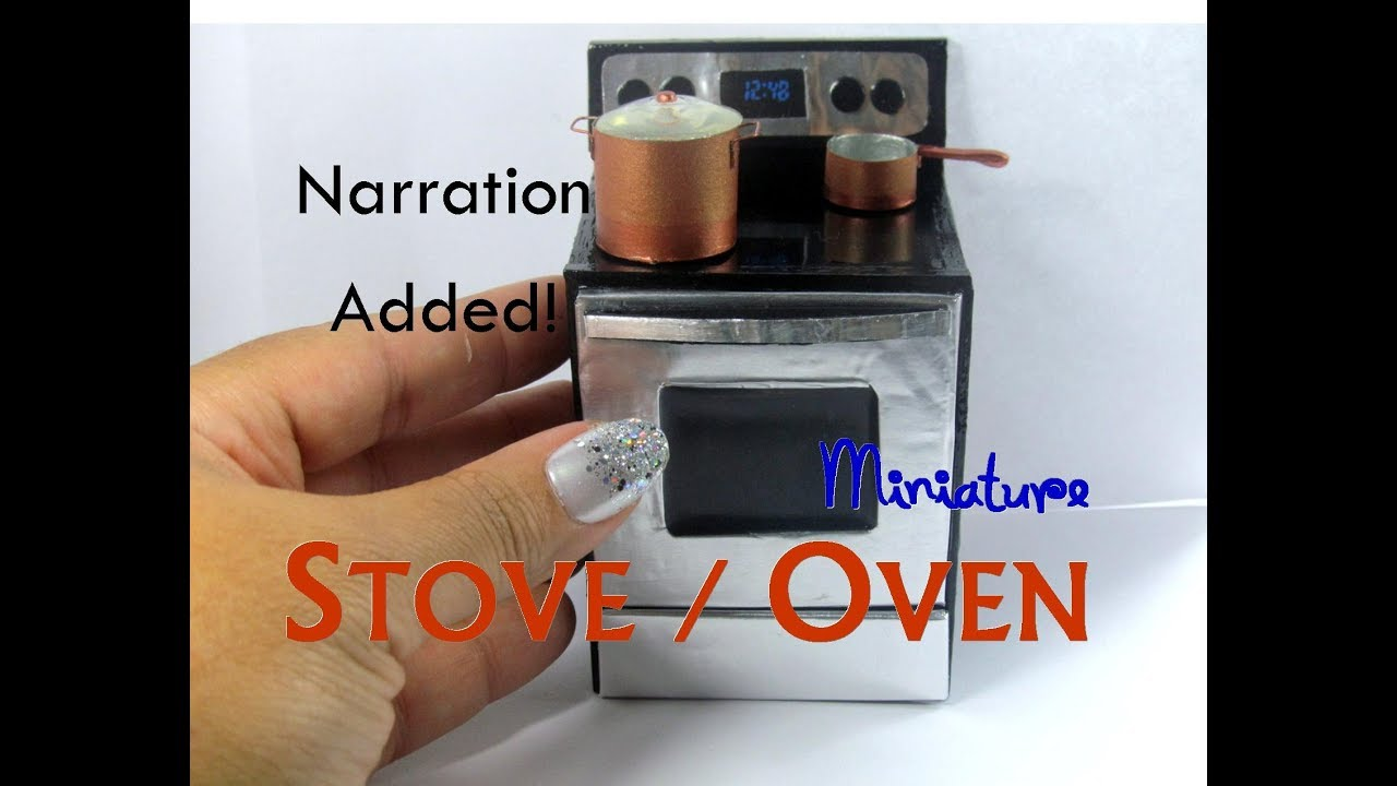 Diy Wood Smooth Surface Stove Oven Dollhouse Miniature