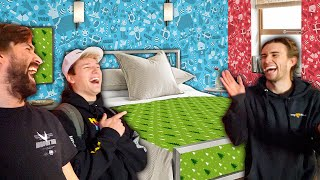 We Wrapped Drew's Entire Room With Christmas Paper! *PRANK*