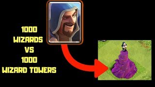 CLASH OF CLANS | 1000 WIZARDS VS 1000 WIZARDS TOWERS | GAMING WITH ROY