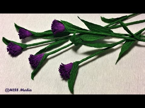 How to make easy origami daisy buttons Paper Flower/ crepe paper flower/paper flower craft tutorials