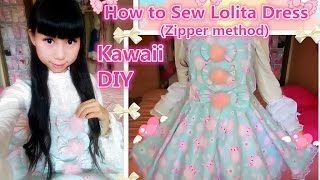 Kawaii Holiday DIY - How to Sew a Cute Easter Bunny Dress(Zipper method) - Lolita fashion