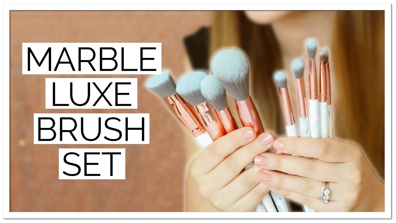 2c2fcd1a99c7 Lily England Marble Luxe Makeup Brush Set