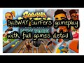 subway surfers gameplay  and (subway surfers) game full detail and review in urdu/hindi