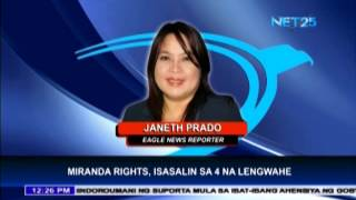 PNP to translate Miranda Rights into other languages