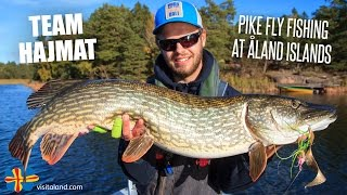 Pike Fly Fishing at Åland Islands with Team Hajmat - Kanalgratis.se