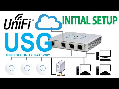 Configuring a Unifi Security Gateway (USG) | English Version - YouTube