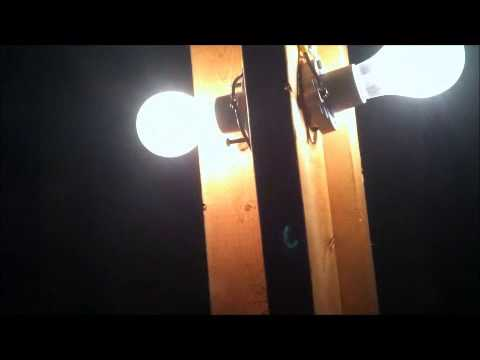 Putting lights in the attic & Putting lights in the attic - YouTube