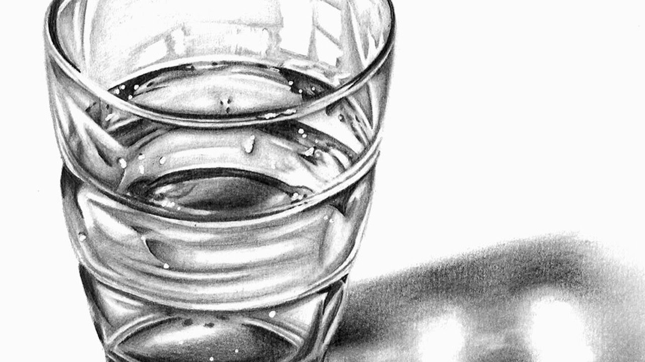 STILL LIFE PRACTISE: Glass of water- Speed Drawing by Cloctor ...