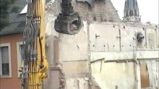 Abriss des Haus der Werktätigen in Bernburg 2015
