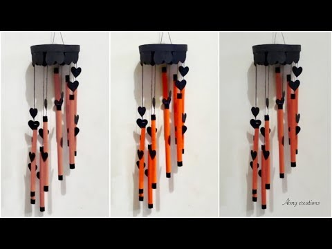 How to make wind chimes out of paper || Paper wind chimes || Aimy creations